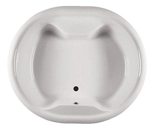 'aquaSu® Acryl-Badewanne Perla | 180 x 153 cm | Weiß | Wanne | Rund | Rundbadewanne | Bad | Badezimmer | Acryl | Komfort