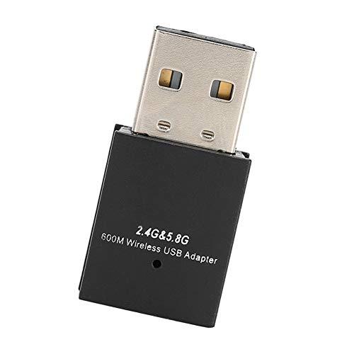 Doble Banda 2.4G / 5.8G 600M Tarjeta de Red inalámbrica USB 2.0 Protocolo WiFi iEEE802.11a / b/g/n/AC Receptor inalámbrico WiFi Accesorio de computadora para Windows XP/Windows 7