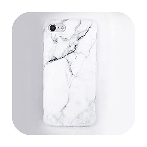Imd - Carcasa de gel para iPhone 7, 6S, 6, 8 Plus, 5, 5S, SE, color negro y blanco