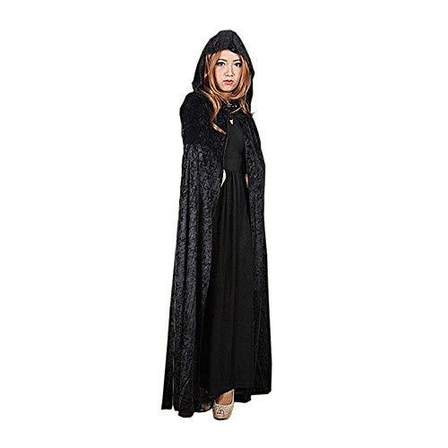 LifeWheel Umhang mit Kapuze Kostüm Samt Cosplay Hexe Cosplay Vampire Party Für Halloween