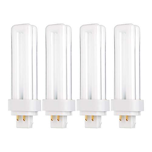 (Pack of 4) 13 Watt Double Tube - G24Q-1 (4 PIN) Base - 4100K Cool White - CFL Light Bulb. Replaces Sylvania 20667 CF13DD/E/841 - Philips 38328-1 PL-C 13W/841/4P/ALTO and GE 97597 F13DBX/841/ECO4P