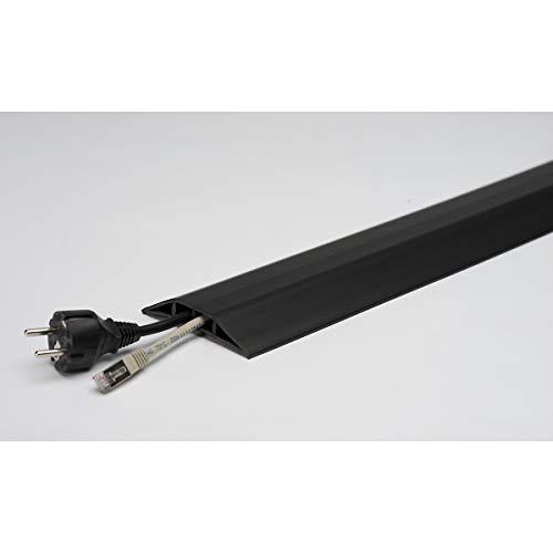 Kabelbrücke aus Kunststoff, für Schläuche bis Ø 7,5 mm schwarz, 2 Kammern, Länge 1,5 m - Fahrbahnschwellen cable covers duct