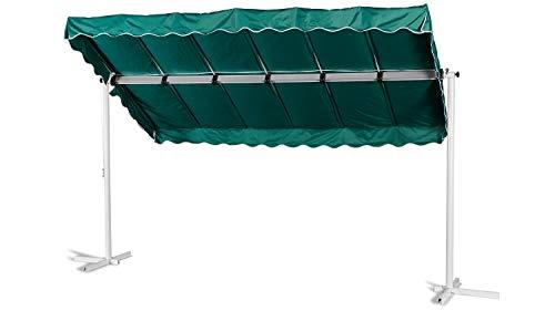 GRASEKAMP Qualität seit 1972 Standmarkise Dubai Grün 375 x 225 cm Terrassenüberdachung Raffmarkise Mobile Markise