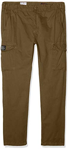 Schott NYC Trolimpo70 Pantalones, Verde (Kaki Kaki), W28/L32 (Talla del Fabricante: 28) para Hombre