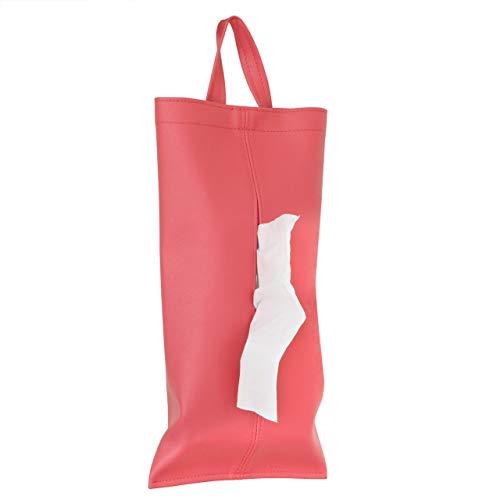 TEES FACTORY 掛けられるティッシュケース「KETY」ピンク 日本製 PVCレザー