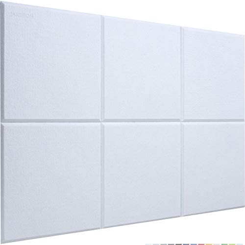 JARDEON Acoustic Panels White Sound Proof Padding for Wall Decoration and Noise Reduction Beveled product image