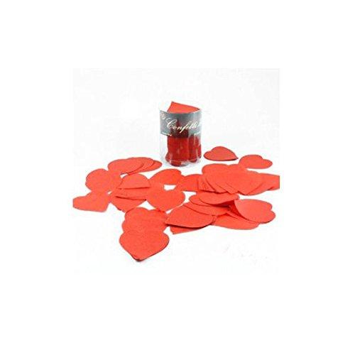 Confettis de scène cœur rouge en boite décorée 100 grammes