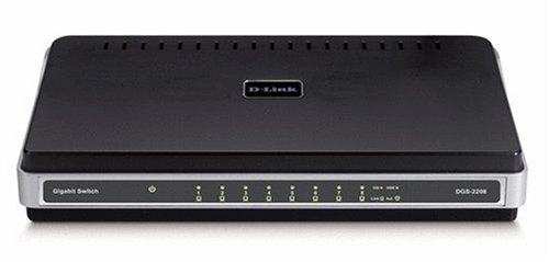 DLink DGS2208 8Port 10/100/1000 Desktop Switch