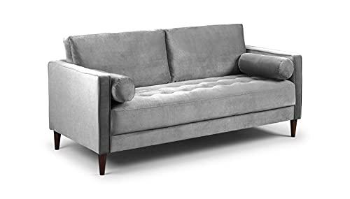 Honeypot - Harper - Sofa - 4 Seater - 3 Seater - 2 Seater - Armchair - Blue - Beige - Plush Grey - Green - Plush Velvet (3 Seater, Grey)