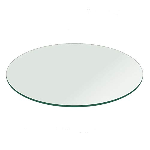 20' or Few cm Less Round Flat Polished Edge Glass Tabletop 1/4' Thick (1, Glass) (1)