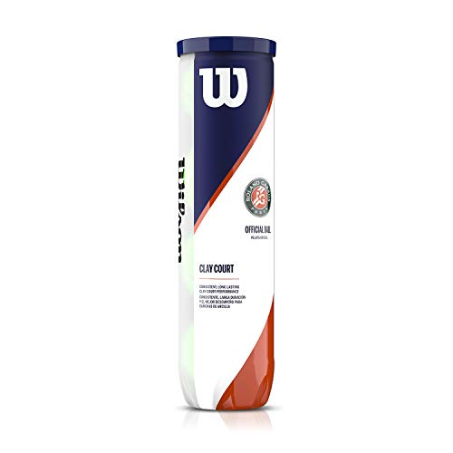 Wilson Roland Garros Tennis Balls, Palla Unisex-Adult, Giallo, 1 può x 4 Palle