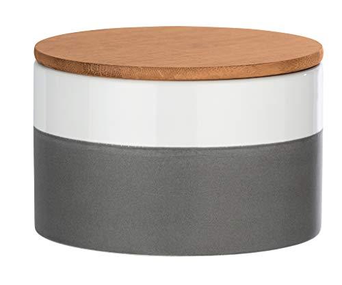 Wenko Aufbewahrungsdose Malta 0,75 l - Vorratsdose, Frischhaltedose mit Bambusdeckel und Silikonring luftdicht und aromafrisch Fassungsvermögen: 0,75 l, Keramik, 14 x 8,5 x 14 cm, mehrfarbig
