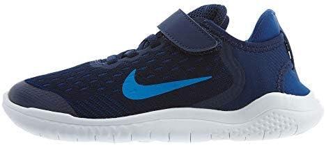 Nike Boy's Free RN 2018 Running Shoe, Blue Void/Photo Blue/Indigo Force, 1 Little Kid