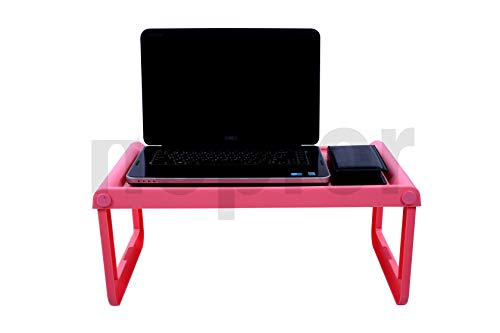 SHOPFORK JOYO Multipurpose Foldable Laptop Desk Table/Study Table/Utility Table for Beds/Portable for Home Office Furniture (PINK)