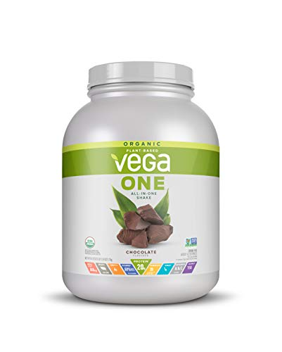 Vega One Organic Meal Replacement Plant Based Protein Powder, Chocolate - Vegan, Vegetarian, Gluten Free, Dairy Free with Vitamins, Minerals, Antioxidants and Probiotics (42 Servings, 3.86 lbs)