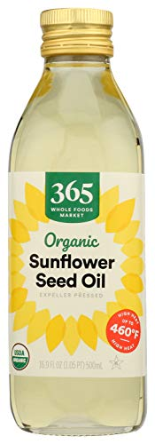 365 by Whole Foods Market, Organic Expeller Pressed Cooking Oil, Sunflower Seed, 16.9 Fl Oz