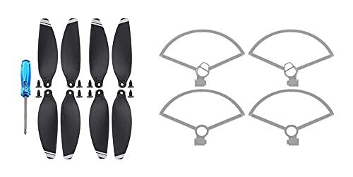 hnsgscmyyxgs Guardia dell'elica Drone per DJI Mavic Mini Drone Protector elica Drone Guarnizione Rapida 4726F Props Ala Ventilatore Guard per Mini Accessori Mavic ( Color : Bundle C Silver )
