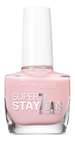 Maybelline New York – Smalto professionale – Tecnologia Gel – Super Stay 7 Days – Tonalità: Barely Sheer (113)