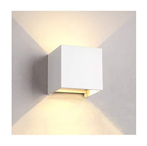 %Éclairage de chevet Applique murale moderne minimaliste LED salon chambre à coucher escalier extérieur (Couleur : Blanc)
