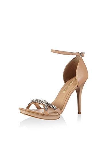 Buffalo London Damen Sandalette, Nude, 39 EU