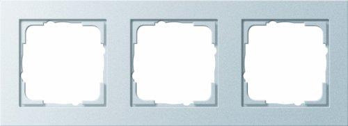 Gira 2028532 Rahmen 021325 3fach E2 Farbe Alu, Aluminium