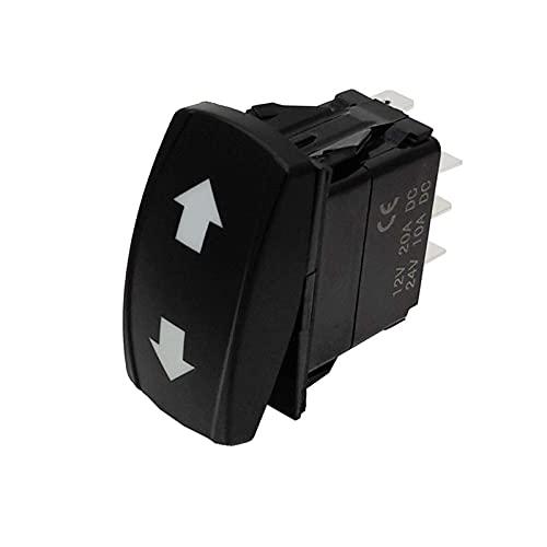 LEILEIMY Interruptor basculante Interruptor de señal de Giro 3 Posición en Off en el Interruptor de la lámpara Verde de la lámpara para los vehículos de ingeniería de 12V 24V Forklift Accesorios