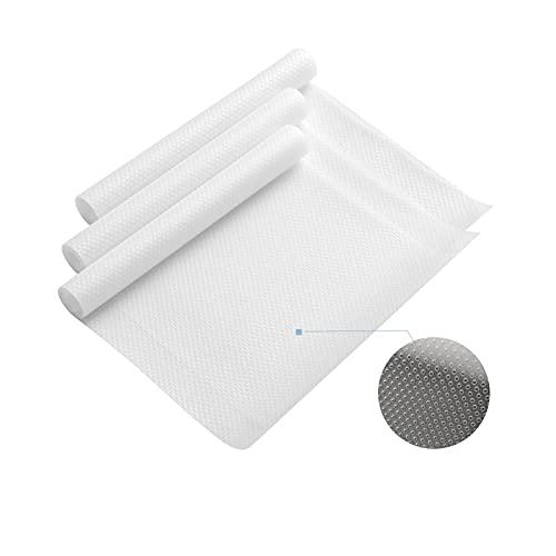 Accevo 3 Rollos EVA Protector Antideslizante Alfombra Cocina Estantes el gabinete Estera Reutilizable Culpable Impermeable Estera del refrigerador Forro de cajón 30X150cm