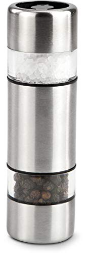 ROMINOX Geschenkartikel Mini Salz- & Pfeffermühle // Parum – Dekorative Gewürzmühle, Klein Aber fein, Mühle mit Zwei getrennten Keramikmahlwerken für Salz und Pfeffer; Maße: ca. 3 x 3 x 10.5 cm