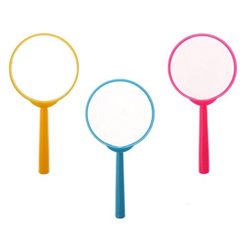 Sharplace 3 Stü 3X Lupe Educational & Science Spielzeug Natur Exploring Spielzeug Für Kinder - Blau, Gelb & Pink