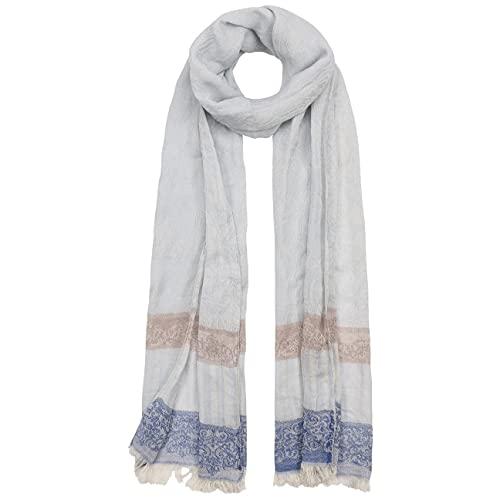 Passigatti Paisley Stripes Tuch Damenschal Schal Damentuch Sommerschal Damentuch Tuch (One Size - hellblau)