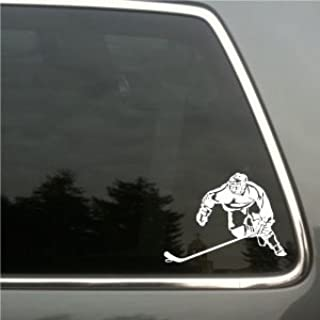 Ice Hockey Player Vinyl Decal small