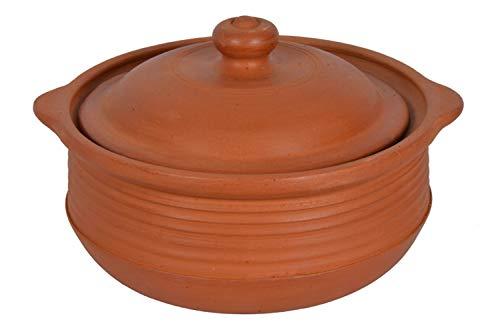 Village Decor earthen clay cooking pot 3.3 QT
