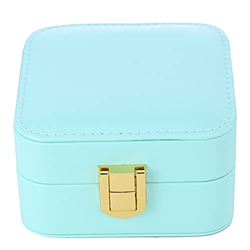 ZYYXB Joyero organizador para mujer, collar y pendientes, pulseras, caja organizadora para joyas para mujer, caja de almacenamiento de anillos, color beige
