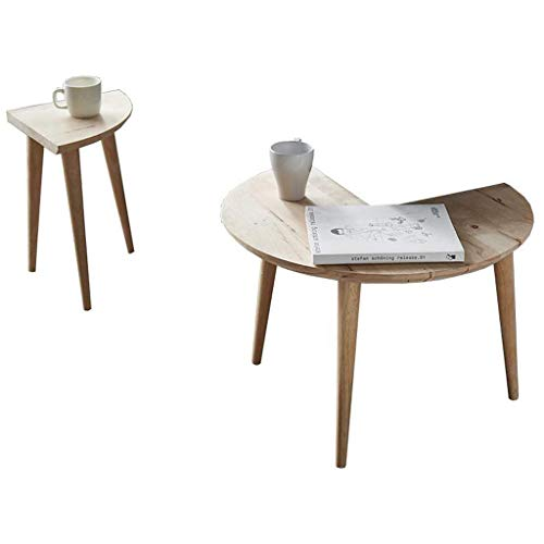 HYY-YY Mesa de centro nórdico redonda moderna minimalista sofá mesa auxiliar pequeño apartamento salón creativo