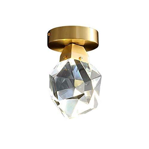 HJW Luces de Techo de Cristal de Lujo Moderna Simple Lámparas de Techo Lámparas de Techo Cortador de Vidrio Pantalla de Metal Metal Pasillo Entrada Entrada Balcón Comedor Sala de Estar Iluminación De