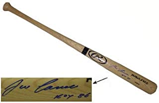 Jose Canseco Autographed Signed Rawlings Pro Blonde Bat ROY 86 - Certified Authentic