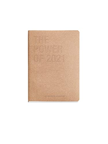Miquelrius 22544 - Agenda Annuale 2021, Riciclata 100%, Craft, Spagnolo/Inglese, Pagina Giornaliera, Formato 155 x 213 mm, A5, Carta 70 g, Copertina Flessibile in Pelle Riciclata, Craft
