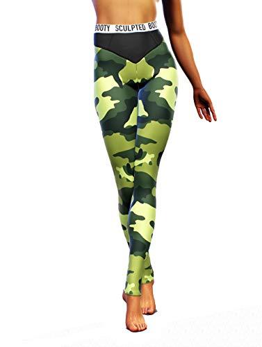 Booty Sculpted Leggings militares del ejrcito   Pantalones de camuflaje para mujer