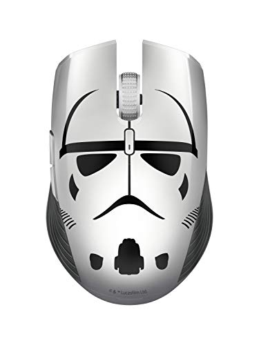 Razer Atheris Stormtrooper Ed : Souris de Jeu Ergonomique, de Gaming, Autonomie de Batterie de 350 Heures, Capteur Optique de 7 200 dpi, Technologie de Fréquence Adaptative de 2,4 GHz - Mercury/Blanc