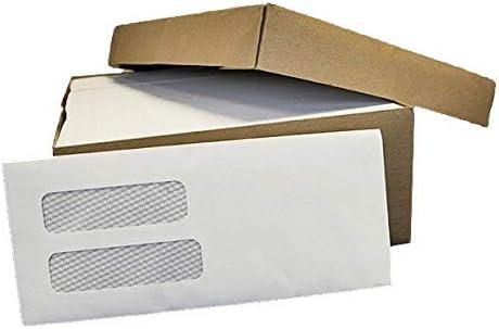 2 X 500 #10 Double Window White Outstanding Regular Gummed Direct sale of manufacturer - Envelopes Secu