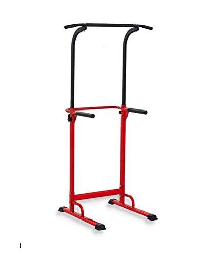 Pull Up Fitness - Barre de Traction Ajustable Musculation Multifonction, Rouge Noir
