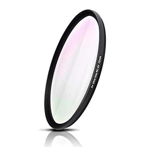 72mm Filtro UV, vetro ottico dal Giappone, Telaio in alluminio fresato CNC, Ultra-Slim, Weather-Sealed. Per Canon Nikon Sony Fujifilm Olympus Sigma Tamron