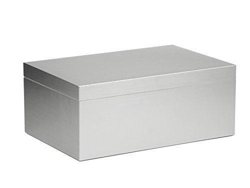 adorini Humidor Aluminium Deluxe L   Zigarren Aufbewahrung mit Aluminium Furnier