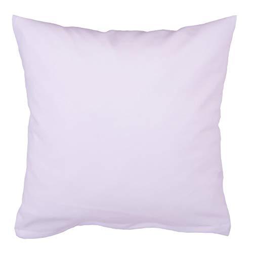 Hans-Textil-Shop Kissenbezug 30x30 cm Weiß Baumwolle (Deko, Sofa, Kissen, Kopfkissen, Kissenhülle)