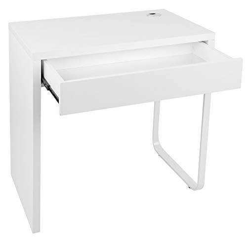 Escritorio-Escritorio-Escritorio de computadora Blanco con cajón Mesa de Escritura para Estudio en el hogar Uso de Oficina Muebles para el hogar