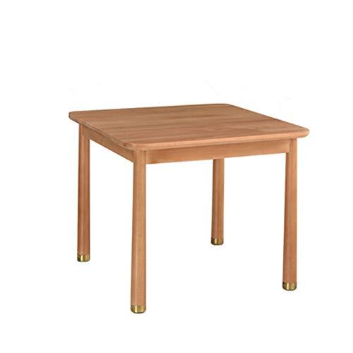 DLSMB - Mesa de actividades para niños, mesa de picnic para fiestas de cumpleaños, mesa de madera maciza, simple y compacta, fácil de mover, madera robusta, natural, 60x60x50cm
