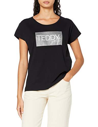 Teddy Smith 31014893D T-Shirt, Noir, Small Femme