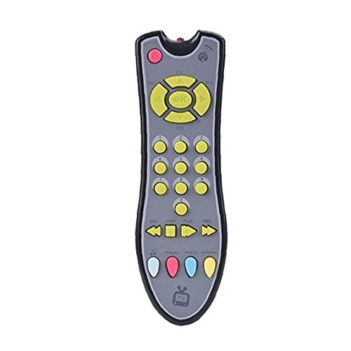Los bebés de Control Remoto del bebé Juguete TV, Originalgetreu, Gris niño con Luces de Navidad de Sonido Musical Aprendizaje Temprano Educación para Niños Niñas