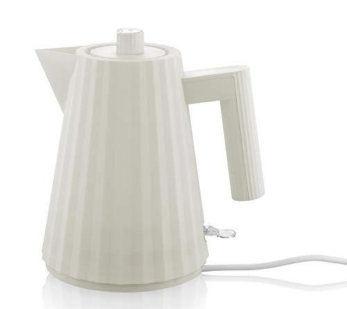 Alessi Plissè MDL06/1 W - Bollitore Elettrico di Design in Resina Termoplastica, Presa Inglese, 100 cl, Bianco