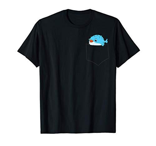 Kugelfisch in Tasche Kinder Aquarium Kugelfisch T-Shirt